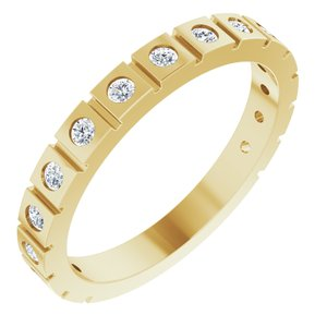 14K Yellow 1/3 CTW Diamond Geometric Anniversary Band