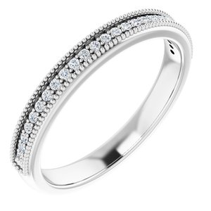 Platinum 1.3 mm Round 1/5 CTW Diamond Anniversary Band