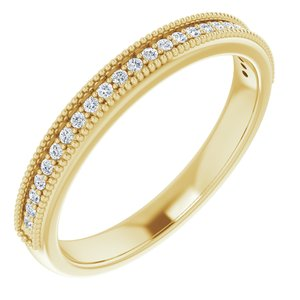 14K Yellow 1 mm Round 1/10 CTW Diamond Anniversary Band