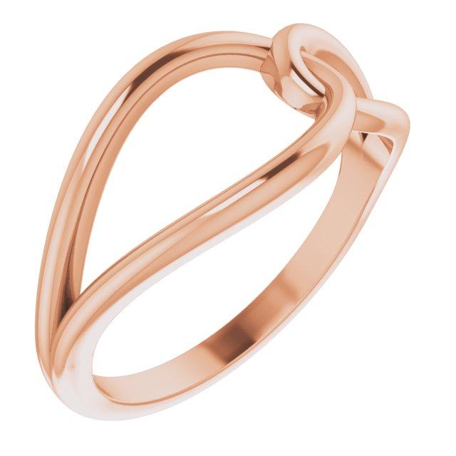 14K Rose Interlocking Circle Ring
