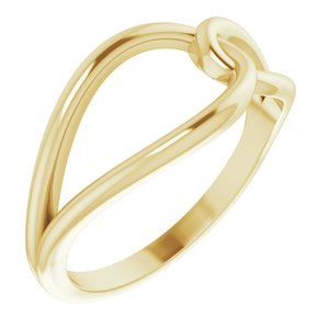 14K Yellow Interlocking Circle Ring