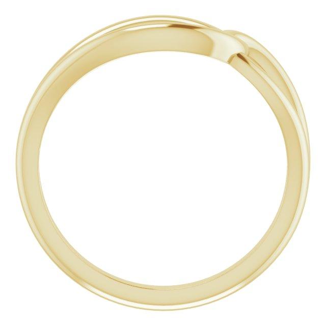 14K Yellow Interlocking Circle Ring