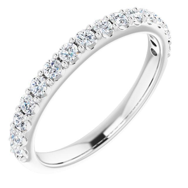 14K White 1/2 CTW Diamond Matching Band