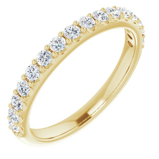 14K Yellow 1/2 CTW Diamond Matching Band