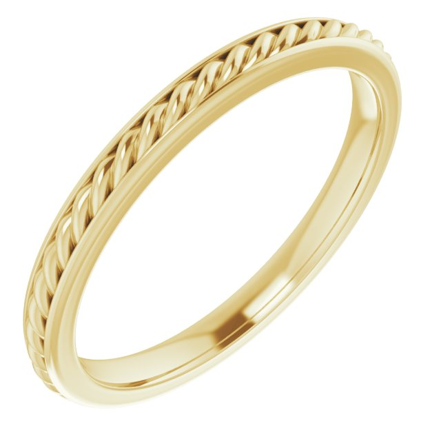14K Yellow 2 mm Rope Band Size 6
