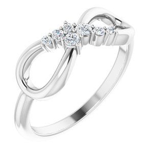 Sterling Silver 1/8 CTW Diamond Infinity-Inspired Ring