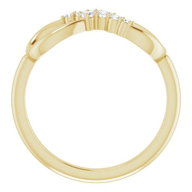 14K Yellow 1/8 CTW Diamond Infinity-Inspired Ring