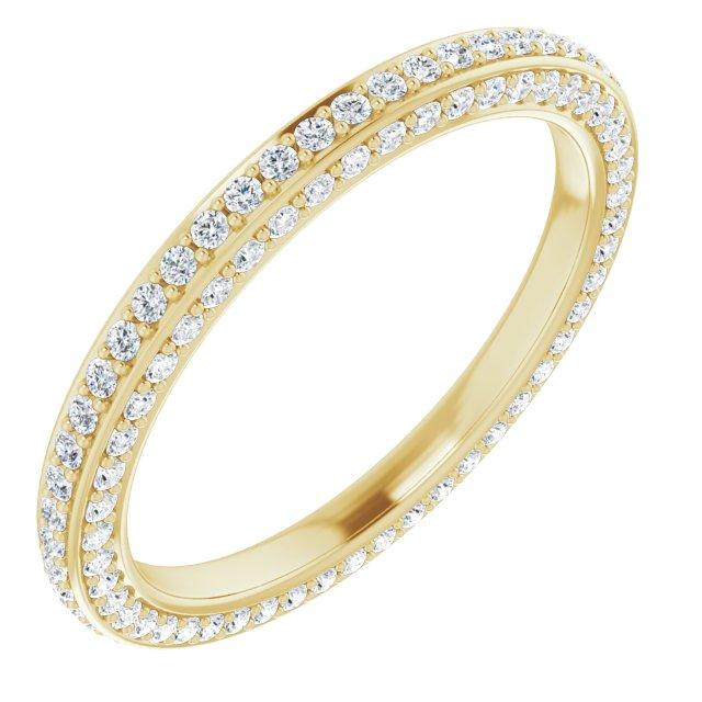 14K Yellow 3/4 CTW Diamond Eternity Band Size 7
