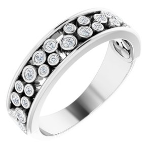 14K White 1/5 CTW Diamond Anniversary Band