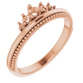 Accented Stackable Crown Ring