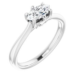 Accented Solitaire Engagement Ring or Band