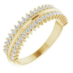 14K Yellow 1/3 CTW Diamond Anniversary Band