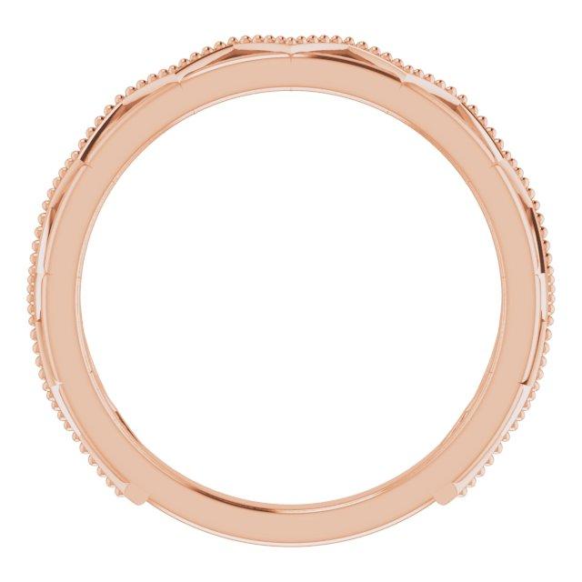 14K Rose Stackable Crown Ring
