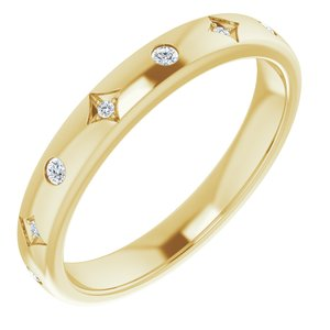 14K Yellow 1/10 CTW Diamond Anniversary Band
