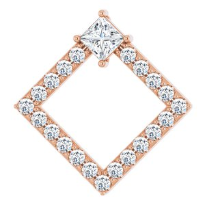 14K Rose 5/8 CTW Diamond Pendant