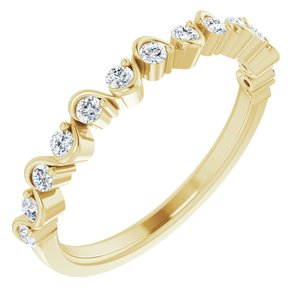 14K Yellow 1/4 CTW Diamond Anniversary Band