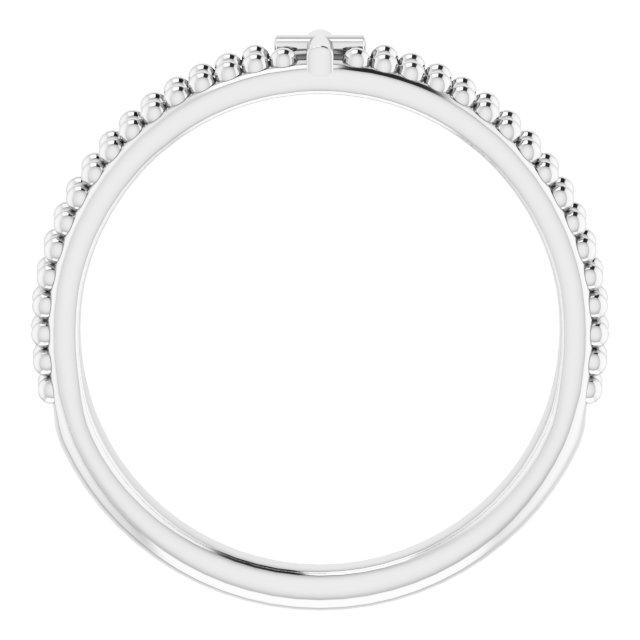 Sterling Silver Milgrain Stackable Cross Ring