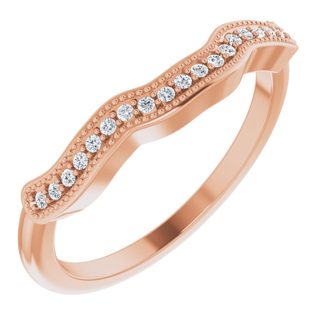 14K Rose .08 CTW Diamond Matching Band
