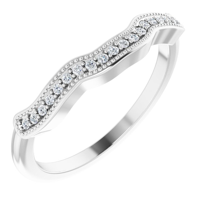 14K White .08 CTW Diamond Matching Band