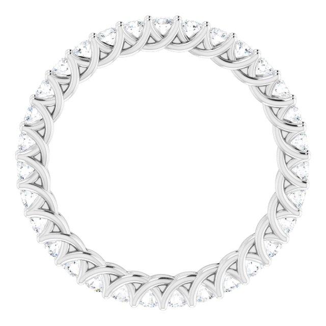 14K White 5/8 CTW Diamond Eternity Band