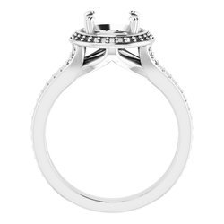 Halo-Style Engagement Ring