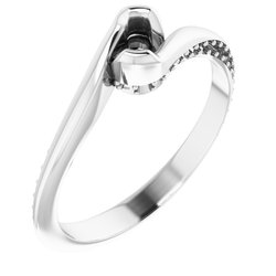 Accented Solitaire Engagement Ring