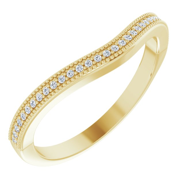 14K Yellow .07 CTW Diamond Matching Band