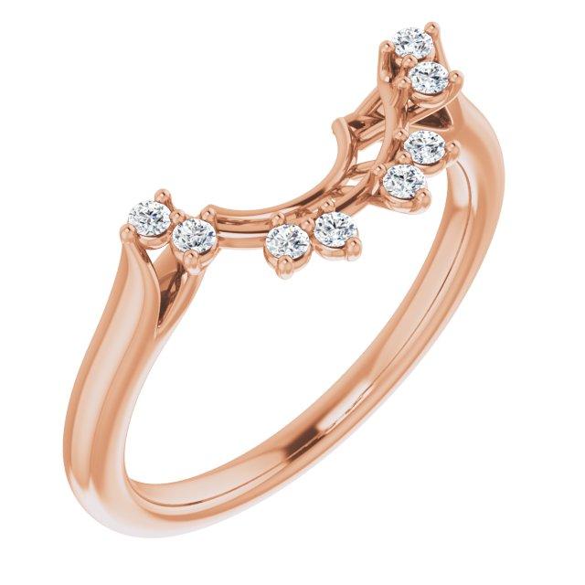 14K Rose 1/10 CTW Diamond Matching Band
