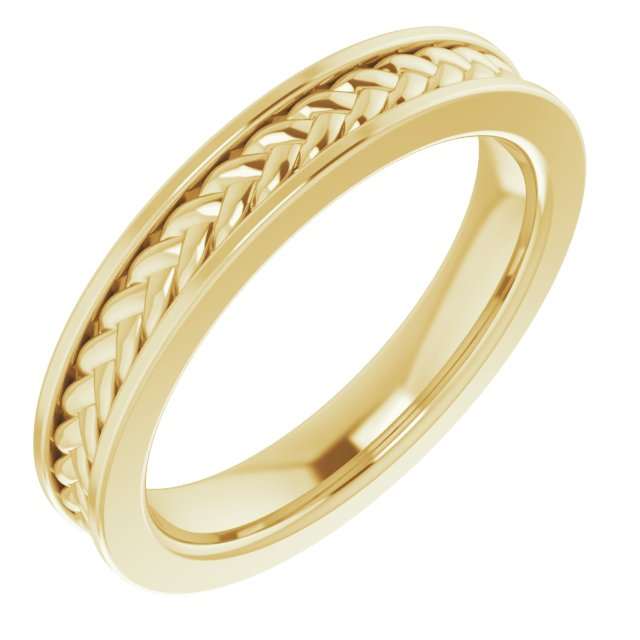 14K Yellow 3 mm Woven Design Band  Size 5