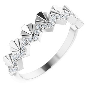 14K White 1/6 CTW Diamond Vintage-Inspired Anniversary Band