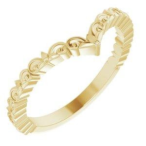 "14K Yellow Vintage-Inspired ""V"" Ring"