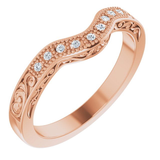 14K Rose .05 CTW Diamond Matching Band