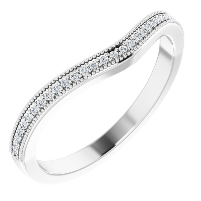 14K White .07 CTW Diamond Matching Band