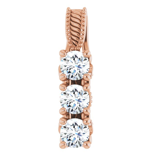14K Rose 5/8 CTW Diamond Pendant