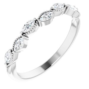 Platinum 1/3 CTW Diamond Anniversary Band