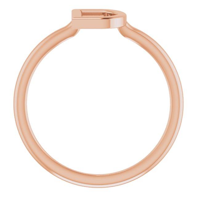 14K Rose Initial D Ring