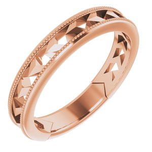14K Rose Geometric Stackable Ring