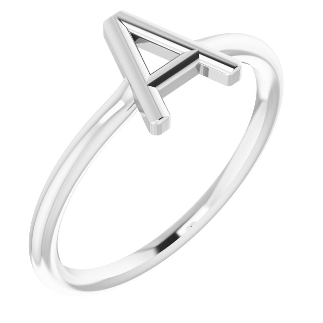 Sterling Silver Initial A Ring