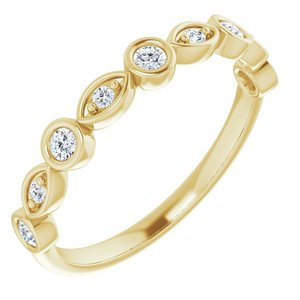 14K Yellow 1/5 CTW Diamond Anniversary Band