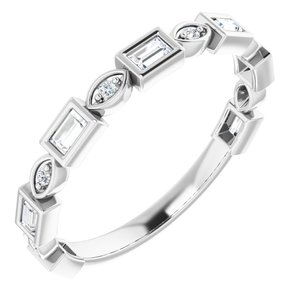 14K White 1/6 CTW Diamond Anniversary Band