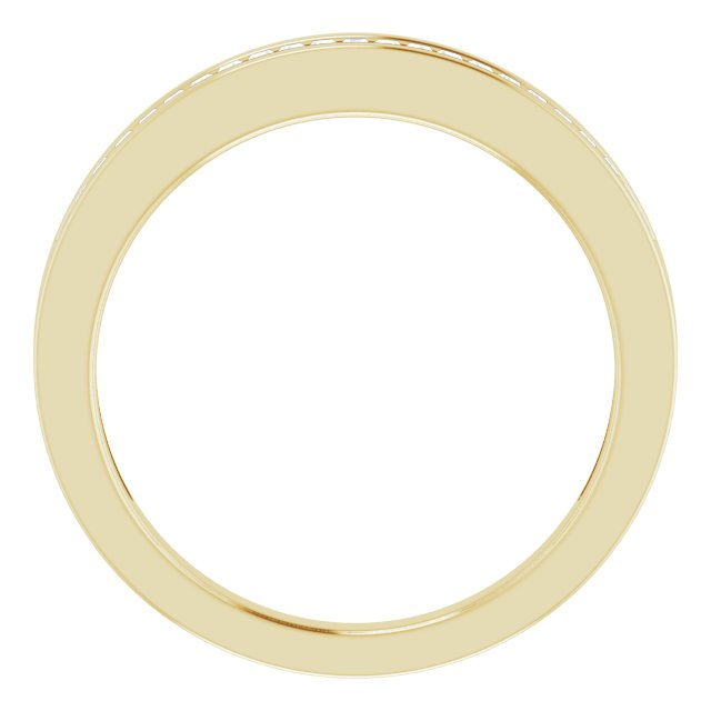 14K Yellow 1/4 CTW Diamond Anniversary Band Size 6