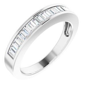 14K White 1/2 CTW Diamond Anniversary Band Size 7