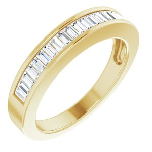 14K Yellow 1/2 CTW Diamond Anniversary Band Size 7