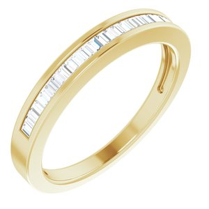14K Yellow 1/4 CTW Diamond Anniversary Band Size 7