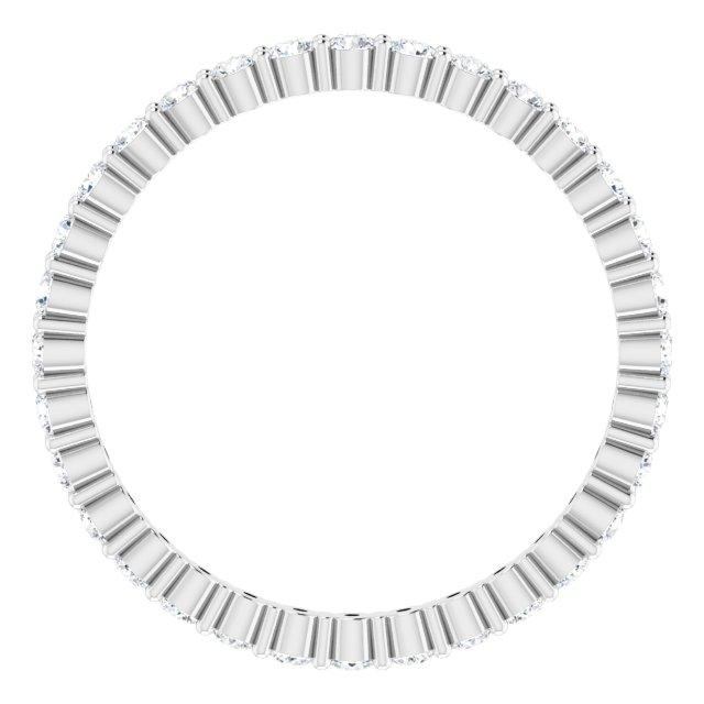 Platinum 1/2 CTW Diamond Eternity Band Size 7