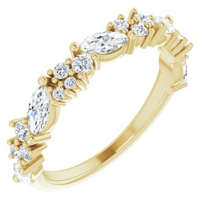 14K Yellow 7/8 CTW Diamond Anniversary Band