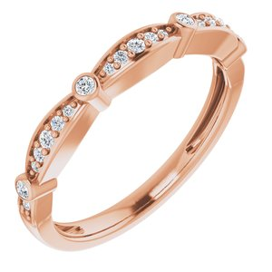 14K Rose 1/8 CTW Diamond Stackable Anniversary Band