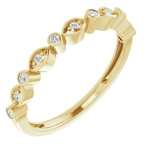 14K Yellow 1/8 CTW Diamond Stackable Anniversary Band