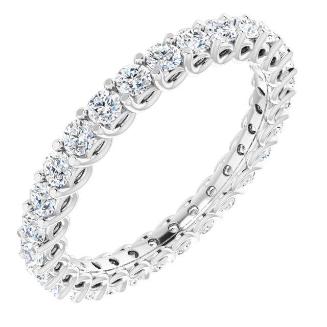 14K White 9/10 CTW Diamond Eternity Band