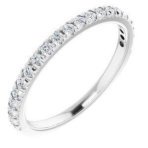 14K White 1/4 CTW Diamond French-Set Anniversary Band